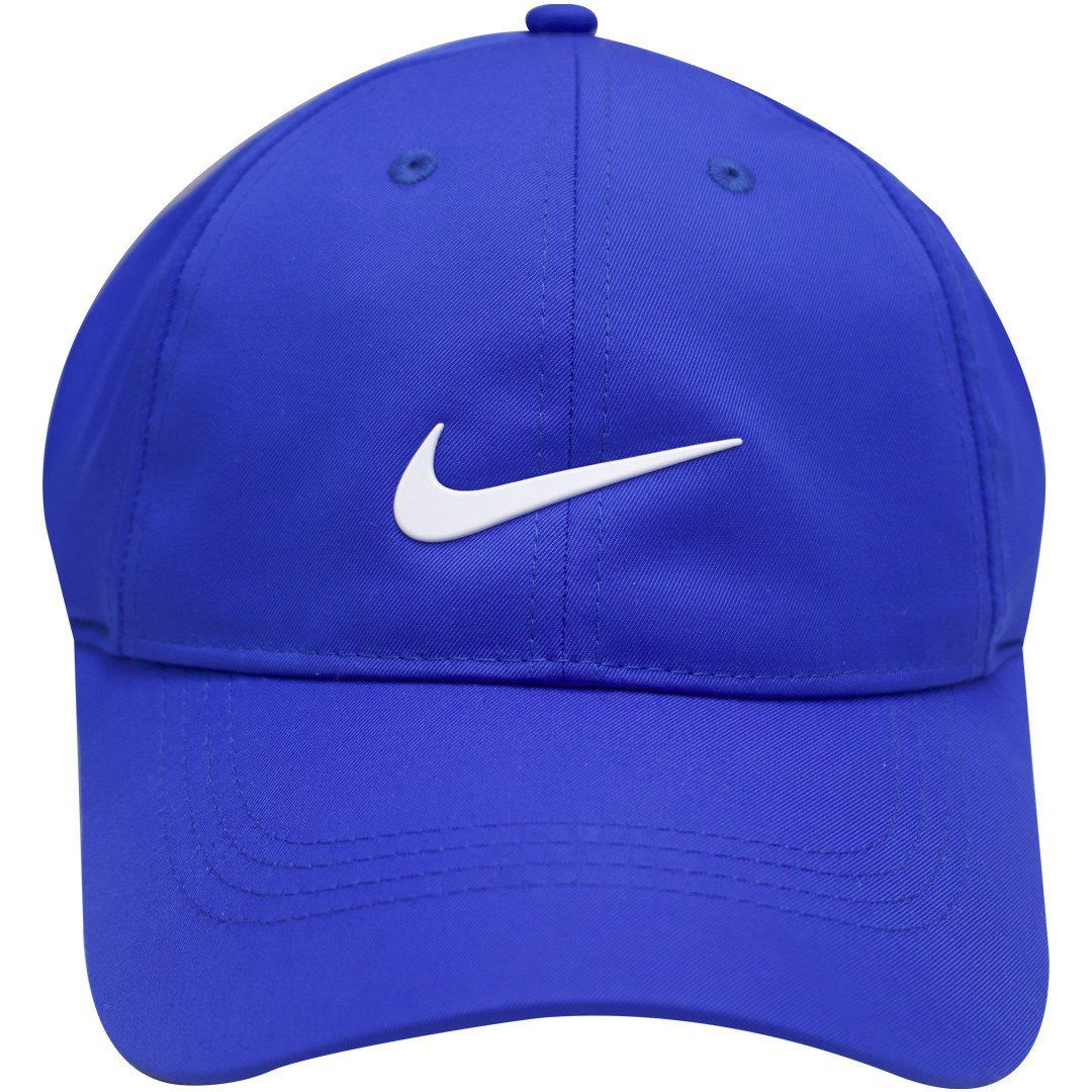 2ee02096969 Nike Dri-FIT Royal Blue with White Swoosh Golf Dad Hat Baseball Cap ...