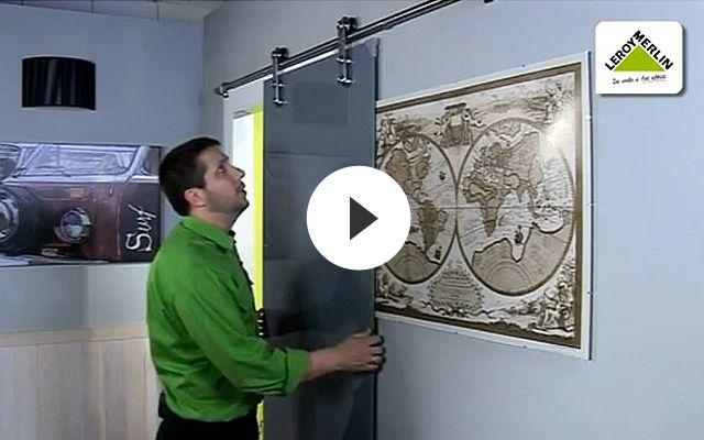V deo de c mo instalar una puerta corredera proyecto for Instalar puerta corredera