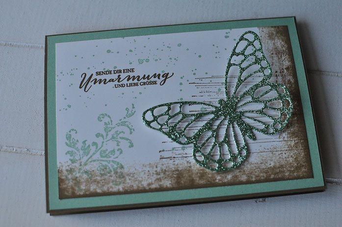 Glitzer-Schmetterlinge - stempeldichbunt