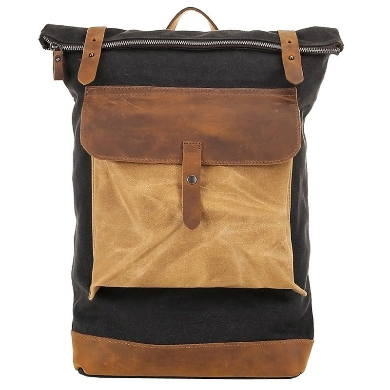f3d341832c4b Retro Vintage Canvas Leather School Shoulder Bag Travel Backpack Rucksack  Bag