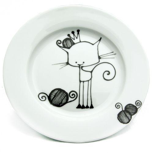 Ketto assiette chat porcelaine peindre love illustrations pottery painting designs - Assiette dessin ...
