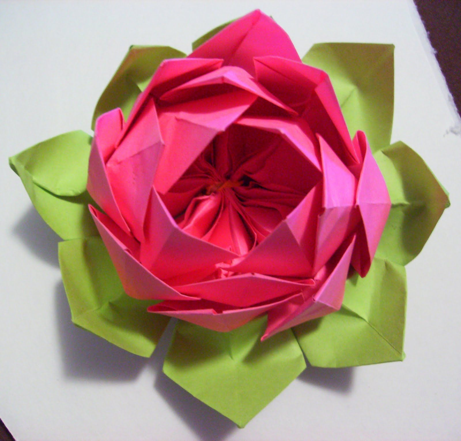 Origami lotus flower origami lotus flower instructions pdf for How to make a lotus with paper