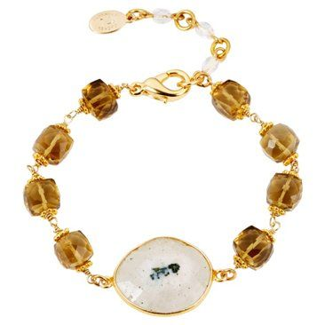 Check out this item at One Kings Lane! Beer Quartz & Agate Bracelet