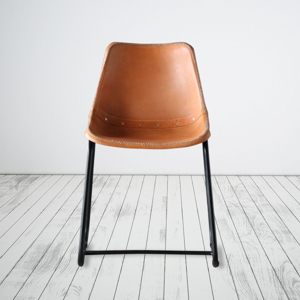 Leather Saddle Chair Chair, Saddle chair, Dining chairs