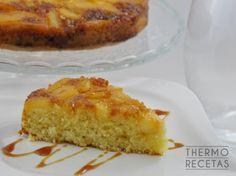 Bizcocho de coco con pera y caramelo - http://www.thermorecetas.com/2014/08/28/bizcocho-de-coco-con-pera-y-caramelo/
