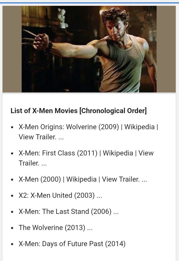 X Men Movies Chronological Order X Men Man Movies Xmen Order