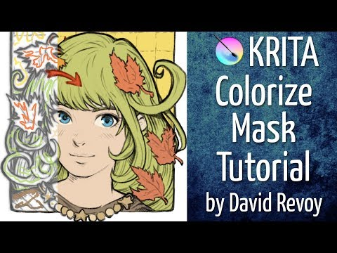 3 Tutorial Coloring With Colorize Mask In Krita Youtube Krita Krita Tutorial Tutorial