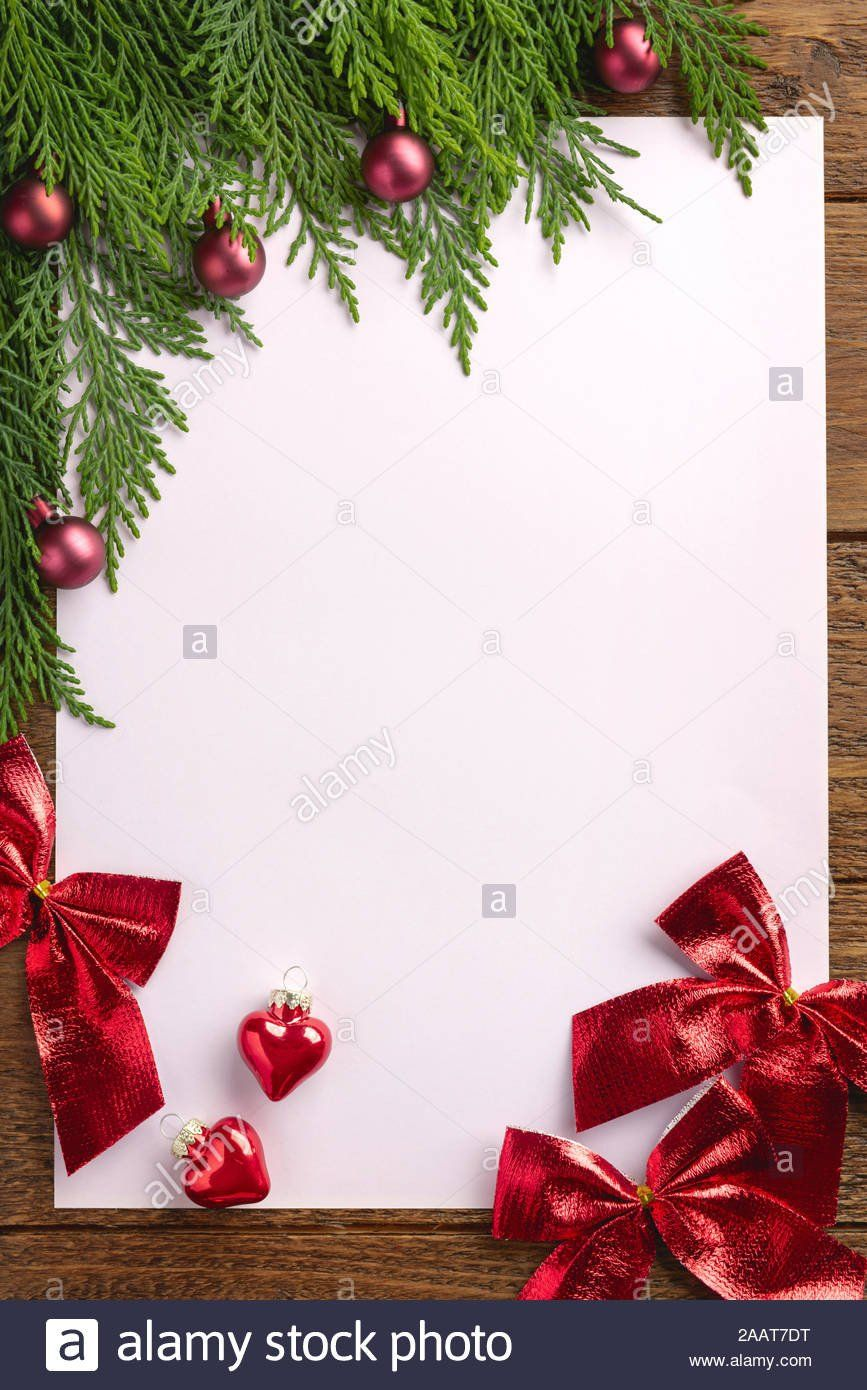 Christmas Ticket Template Holiday Christmas Card With Fir Tree And Festive Decorations In 2020 Christmas Templates Free Christmas Templates Ticket Template