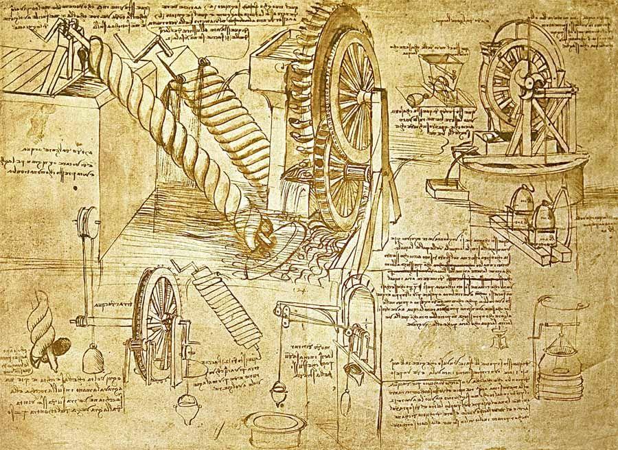Leonardo Da Vinci S Inventions Da Vinci Inventions Da Vinci Sketches Archimedes Screw