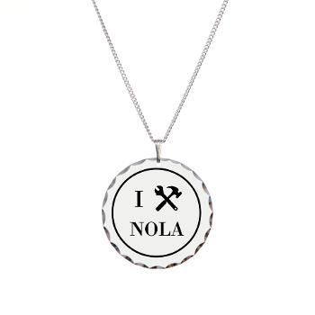 """This simply elegant necklace shows how much you care - about New Orleans, that is! Say """"I Built NOLA"""" with style for only $17.99."""