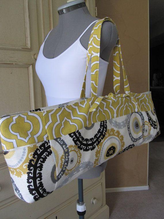 Large Yoga Mat Bag Reversible Via Etsy Diane Haan Lohmeyer Haan Lohmeyer Dietrich Shull Yoga Bag Diy Yoga Mat Bag Pattern Yoga Mat Bag