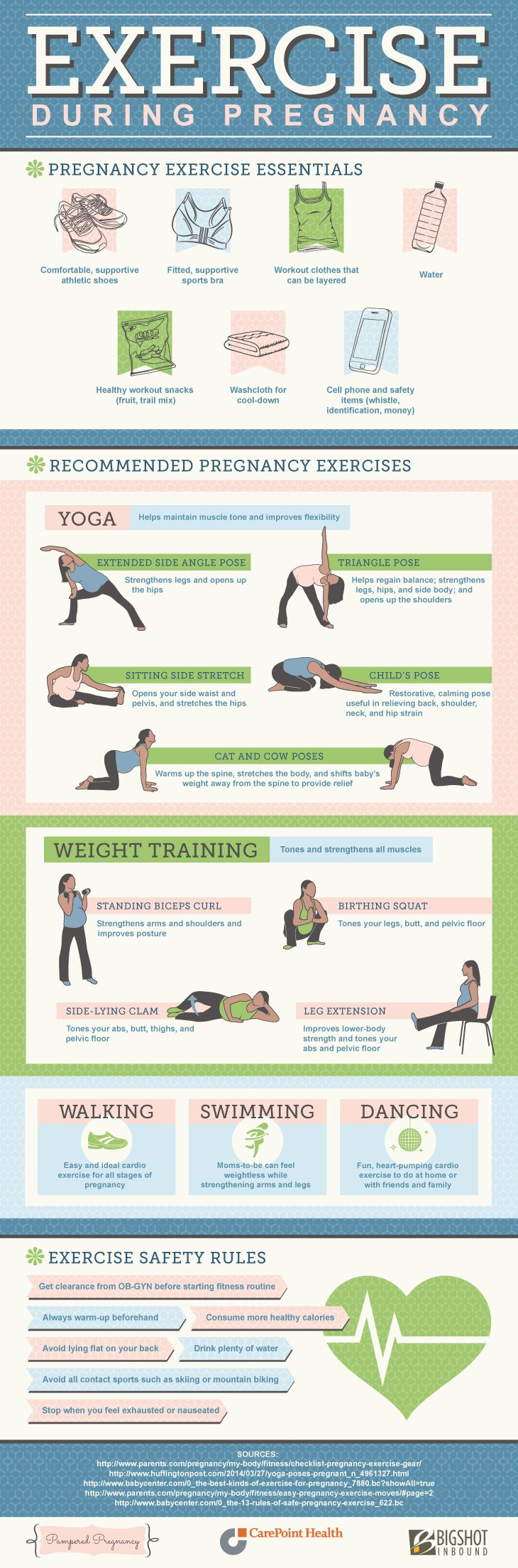 Exercise during pregnancy is associated with multiple ...