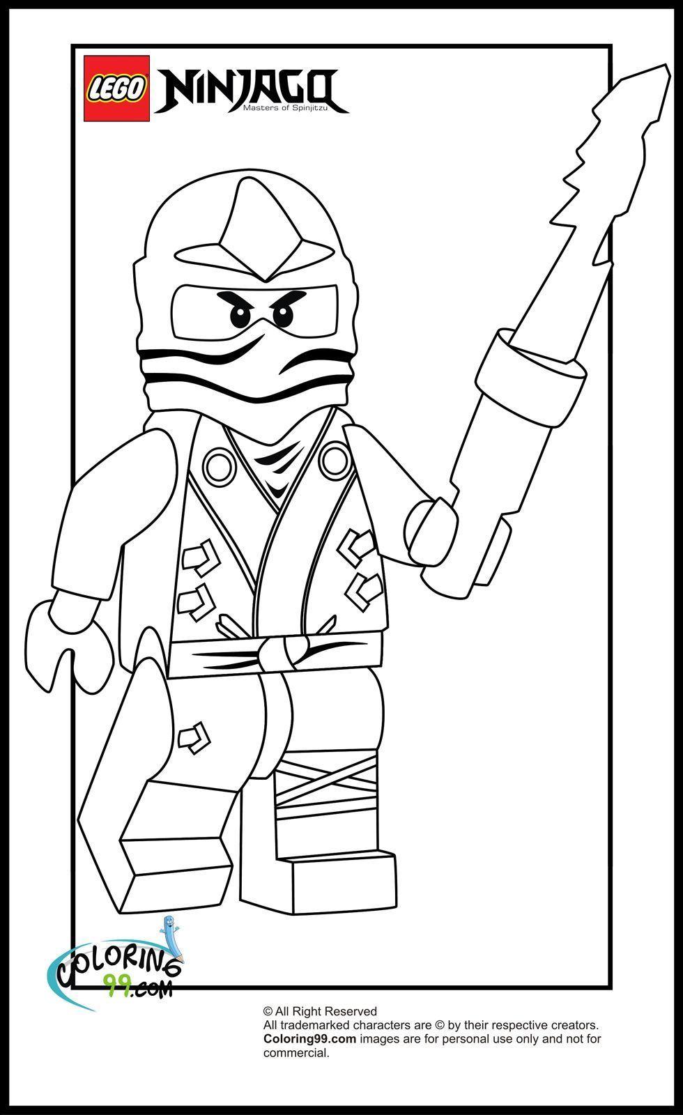 Ausmalbilder von Lego Ninjago Superhelden malvorlagen