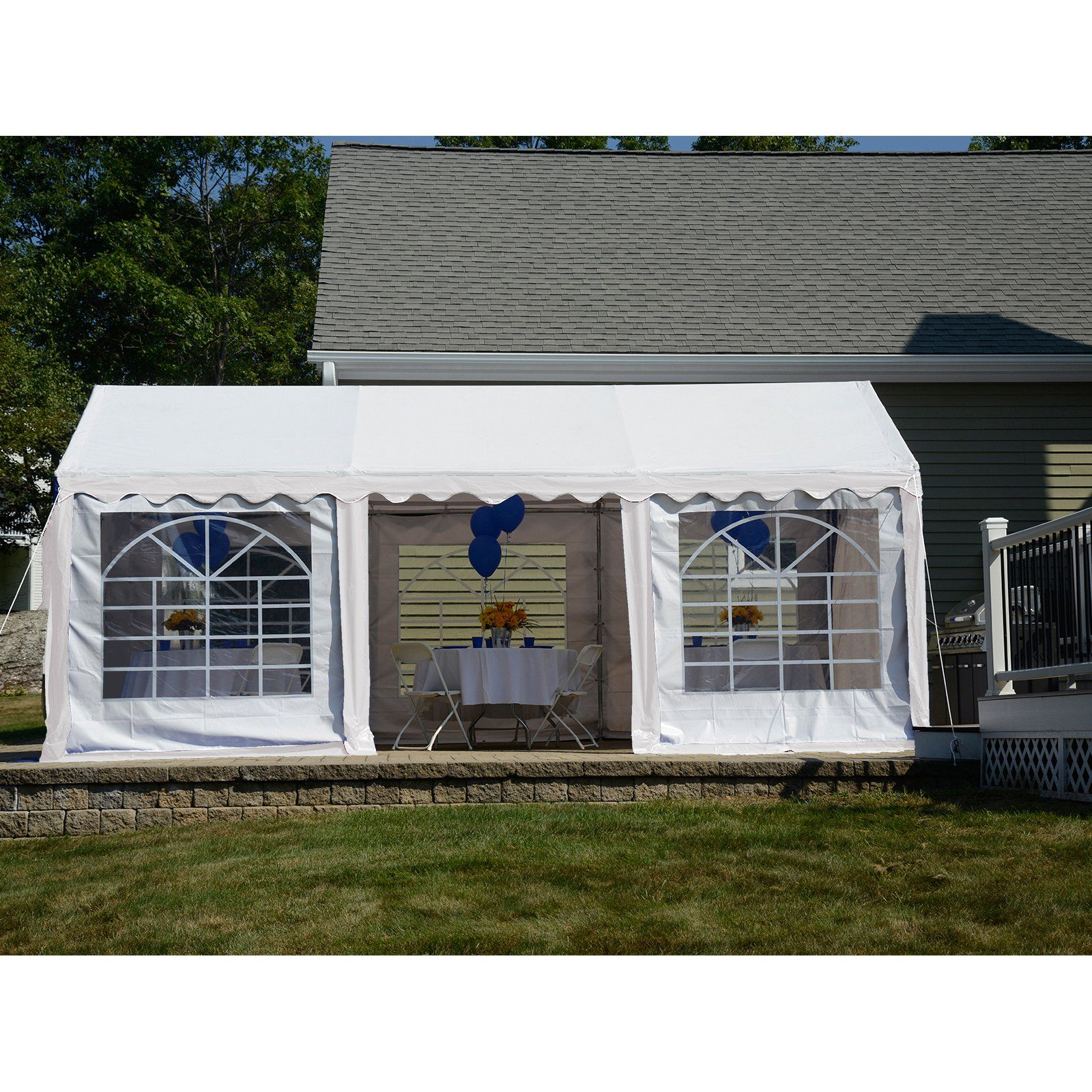 ShelterLogic 10 x 20 ft. Canopy & Enclosure Kit White
