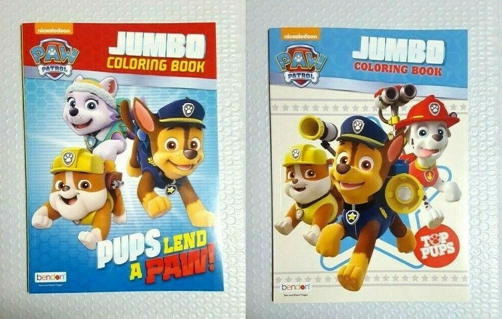 Nickelodeon Paw Patrol Jumbo Coloring And Activity Books For