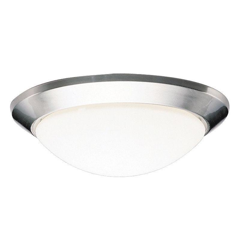 Kichler 8881 Ceiling Space 1 Light Flush Mount Indoor Ceiling Fixture Brushed Nickel Indoor Lighting Ceiling Fixtures Flush Mount