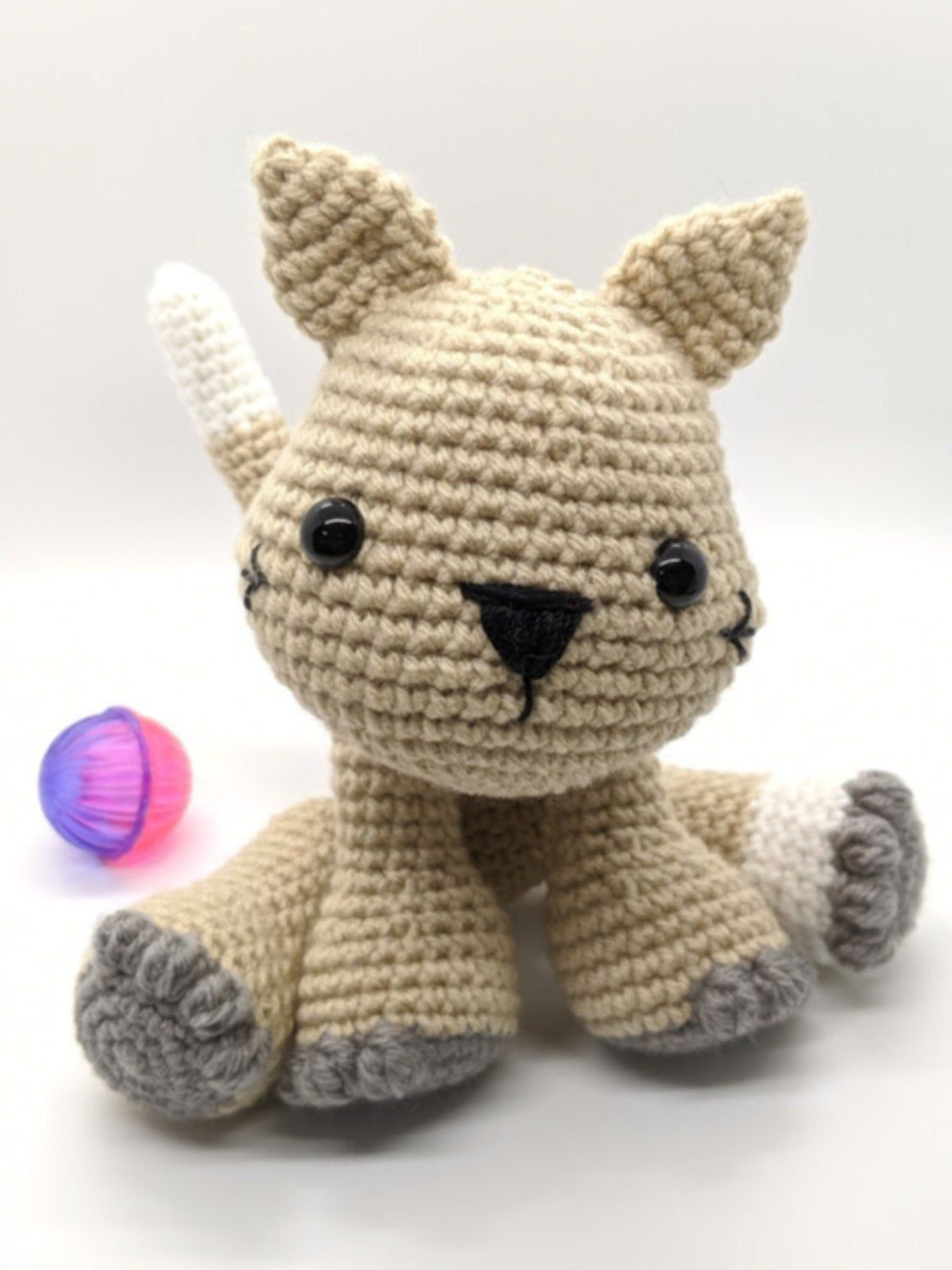 Maple the Kitty PDF Plush Cat Pattern #crochetdinosaurpatterns Meet Maple the Kitty Cat! The newest crochet pattern in the Dear Jacki Stitchery family! This is an adorable kitty cat pattern that is perfect for anyone who loves cats. Made with tan yarn in the pattern but would be sweet in a multi colored yarn. When sitting, this kitty is 7 inches and the perfect size for snuggling. This pattern includes a photo tutorial and simple, detailed instructions. It is in a PDF format and will be availabl #crochetdinosaurpatterns