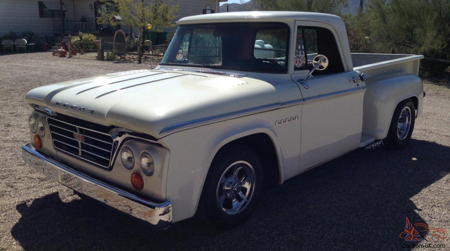 1966 dodge d 100 short bed stepside pickup truck for sale