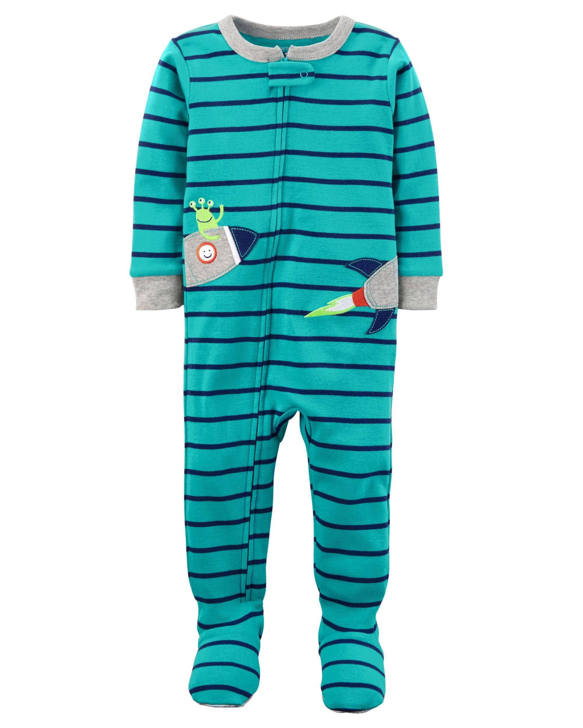 a71c555275fc 1-Piece Neon Rocket Snug Fit Cotton PJs
