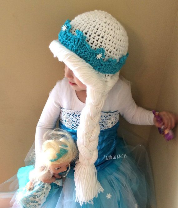 Elsa hat crochet elsa hat princess elsa hat frozen by LandOfKnots