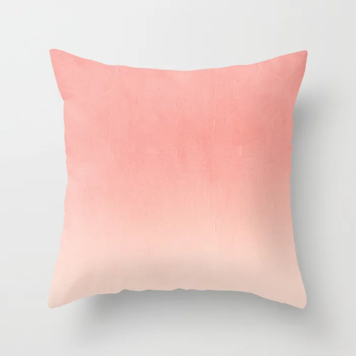 Coral ombre trendy girly trend college life dorm decor office minimalism Throw Pillow by charlottewinter – Patterns of Living