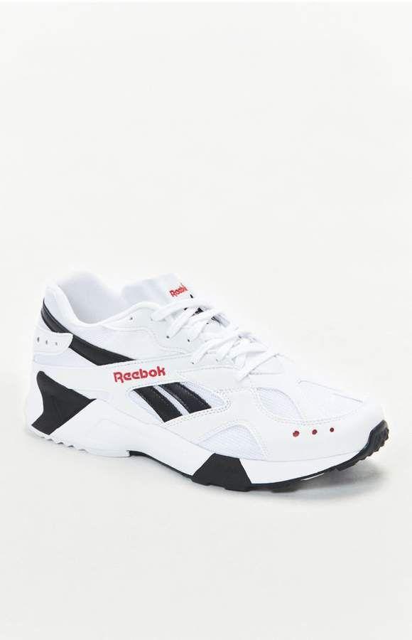 8dba054da9f7 Reebok Aztrek White   Black Shoes