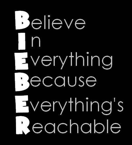 Born to be Belieber