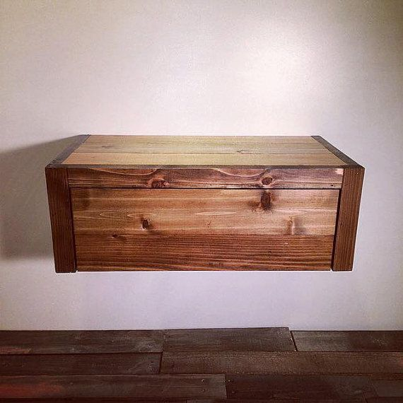 Floating Barn Wood Style Bedside Table / End Table / Nightstand Or Shelf    Handmade In