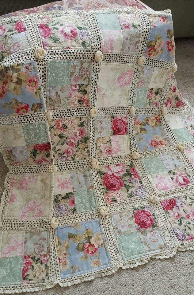 Crochet and fabric quilt | Handarbeiten, Häkeln und Decken