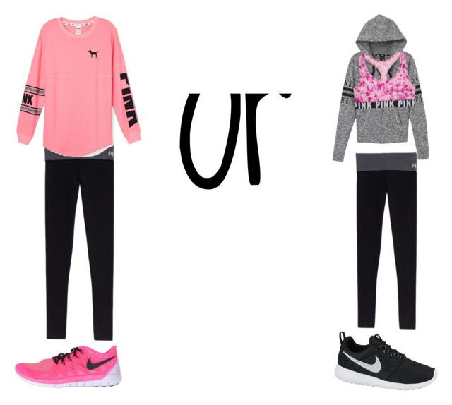 """Which one???????"" by southern-belle606 ❤ liked on Polyvore featuring Victoria's Secret, Victoria's Secret PINK and NIKE"