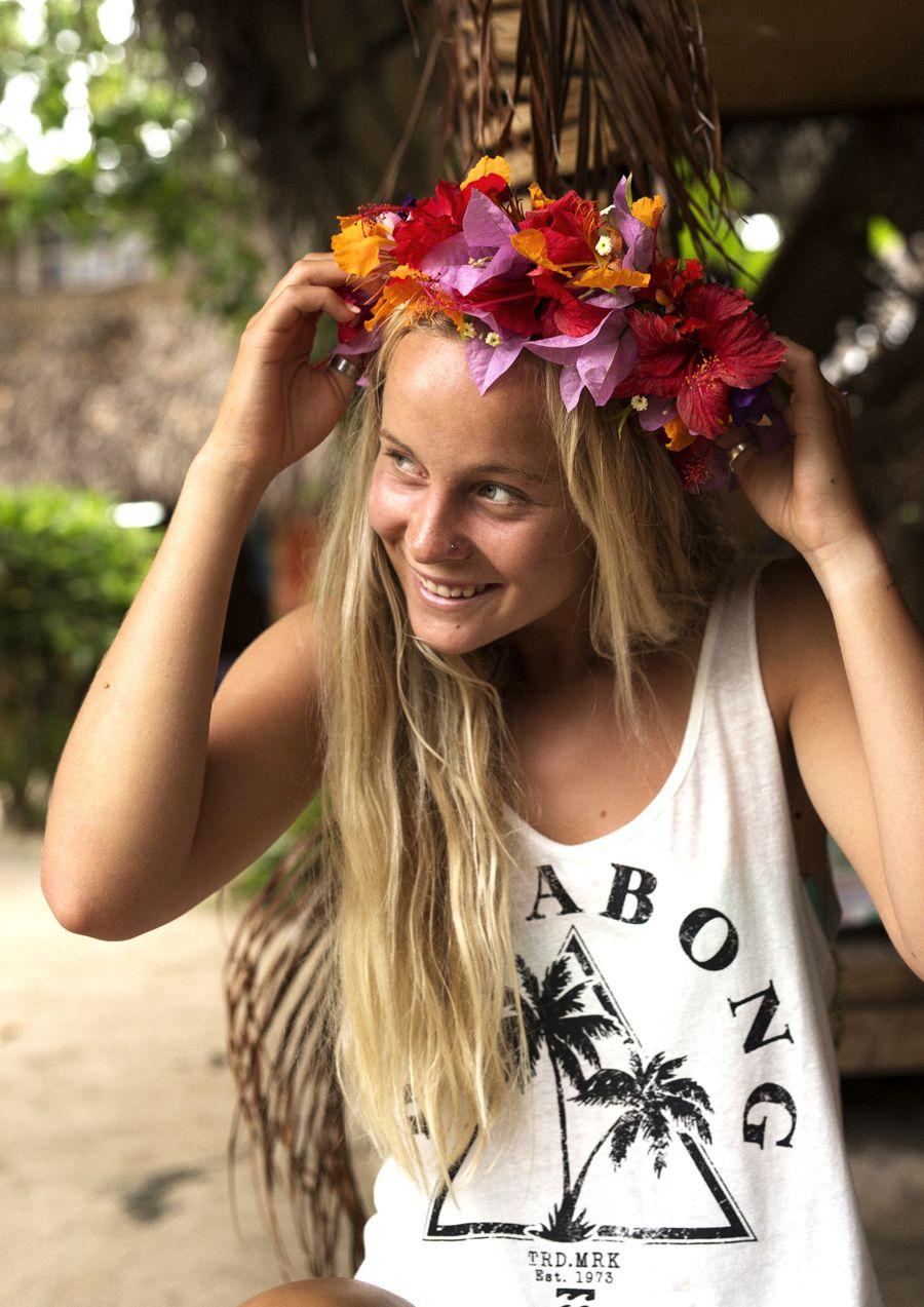 DIY TAHITIAN FLOWER CROWN | Billabong