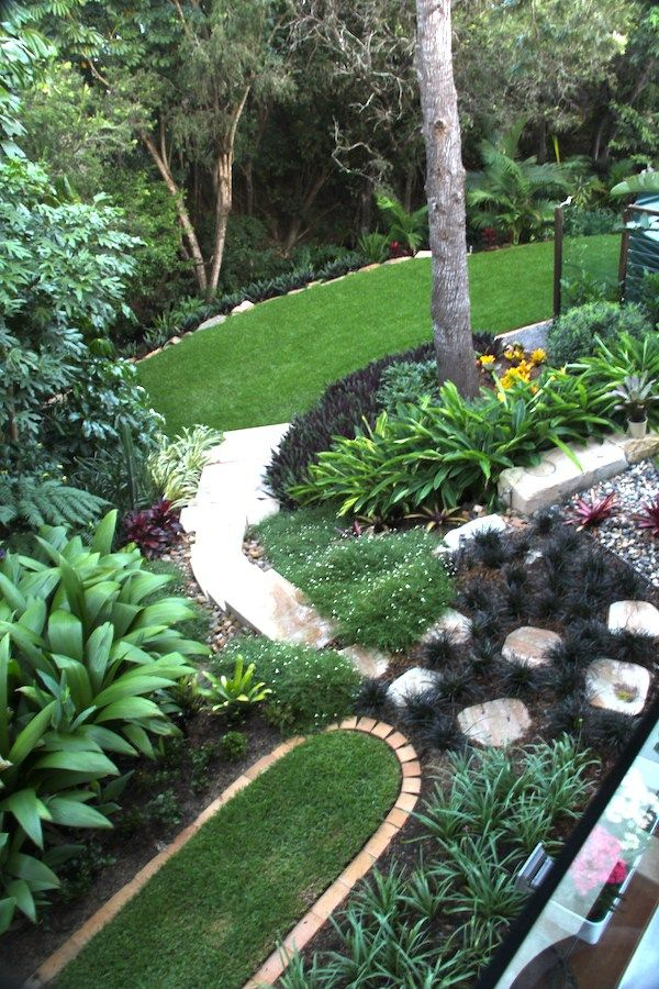 View of the garden from upper deck Design by Define Landscape ...