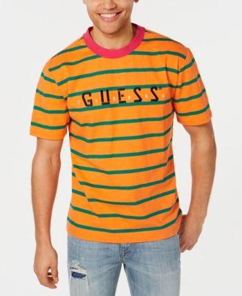 9876d30e5a GUESS J Balvin X Men Striped Logo T-Shirt in 2019 | Products | Mens ...