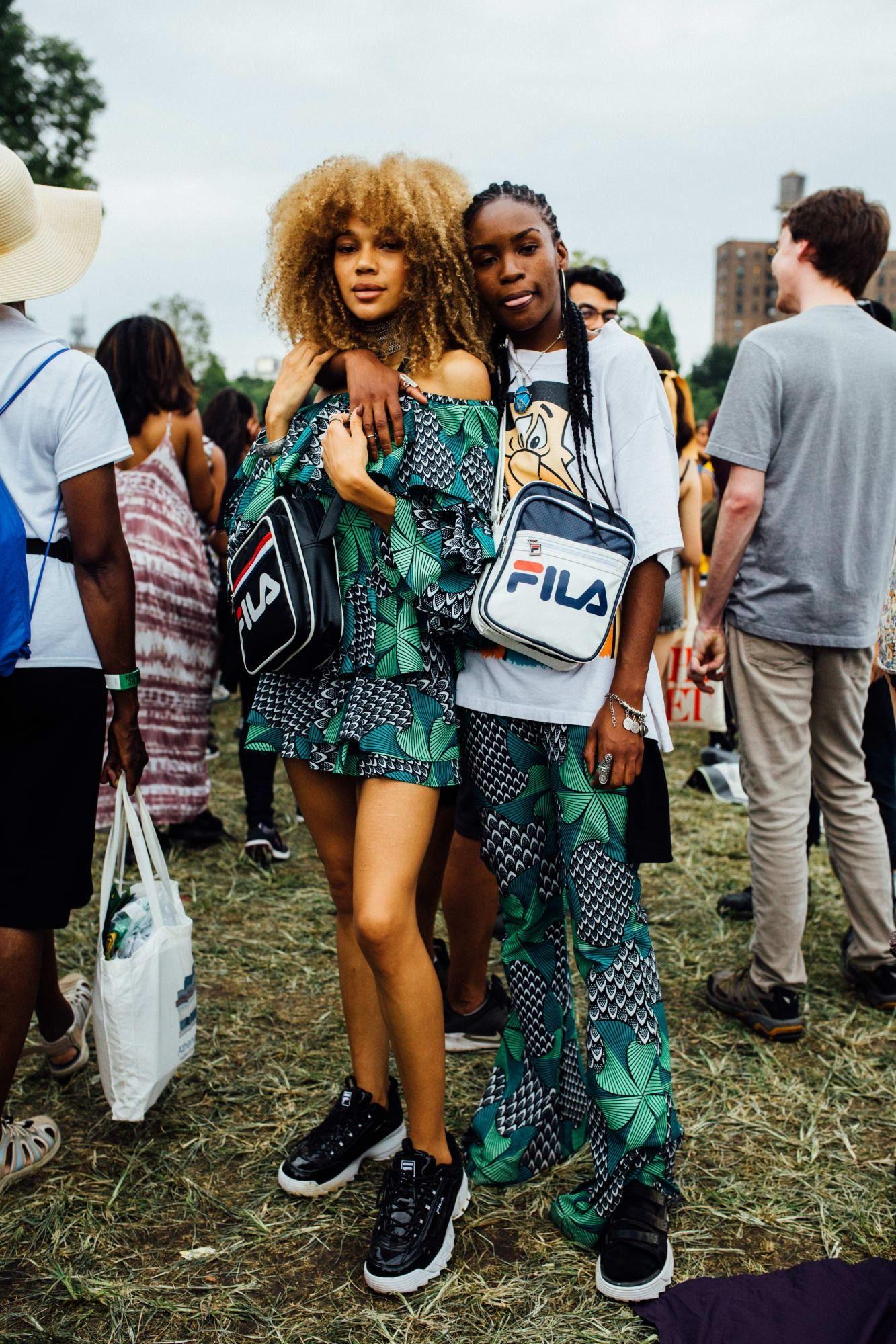 Crop tops were a music festival favorite at afropunk street