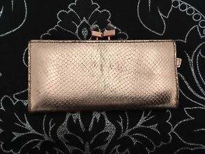 c91d6cfc4 TED BAKER Annge Crystal Popper Matinee Purse - Rose gold