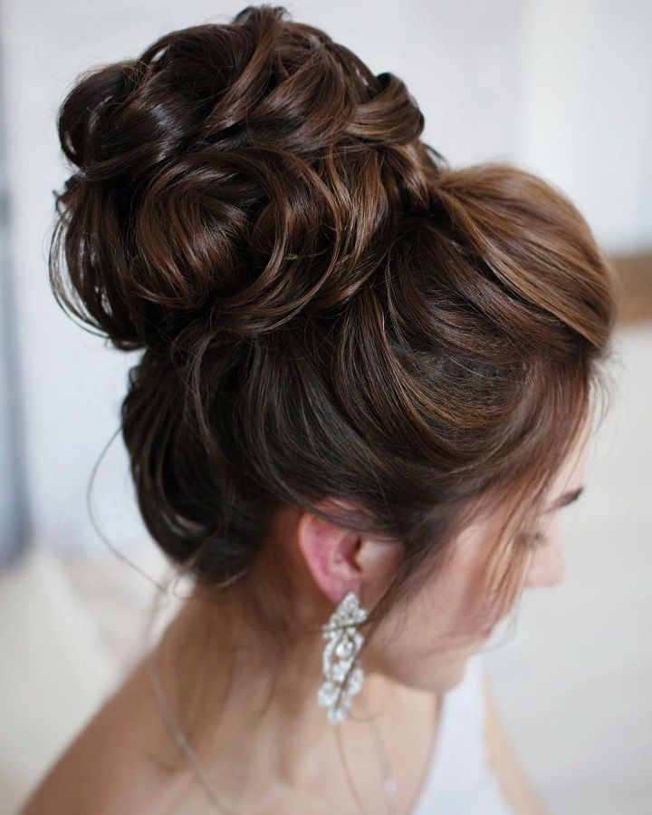Wedding updo hairstyle #weddinghair #weddinghairstyle #chignon #frenchhairstyle #hairstyles
