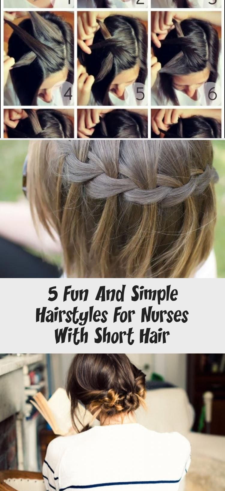 5 Fun And Simple Hairstyles For Nurses With Short Hair Pinokyo In 2020 Easy Hairstyles Nurse Hairstyles Quick Hair Tips