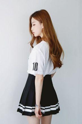 School Tennis Skirt Korean Fashion Pakaian Wanita Model Pakaian Wanita