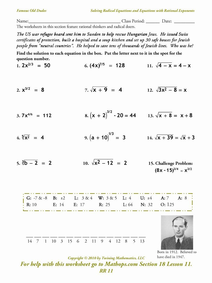 Simplifying Radical Expressions Worksheet Answers Best Of Alg 2 Homework Assignments Seme In 2020 Radical Equations Exponent Worksheets Simplifying Radical Expressions