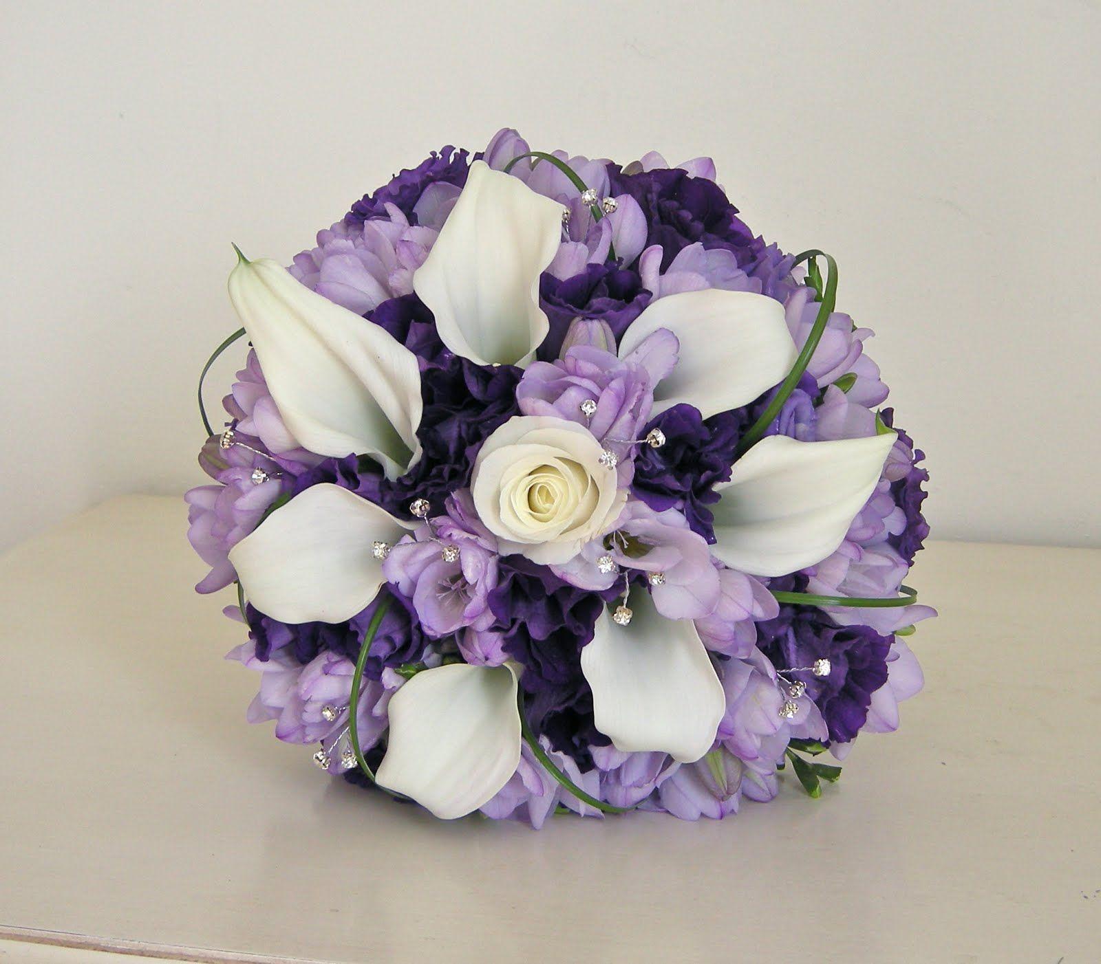 Lavender roses purple lisianthus and white alstromeria Bing