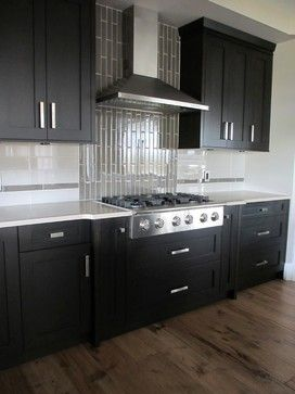 Terrific Dark Kitchen Cabinets Glass Backsplash Design Ideas Home Interior And Landscaping Eliaenasavecom