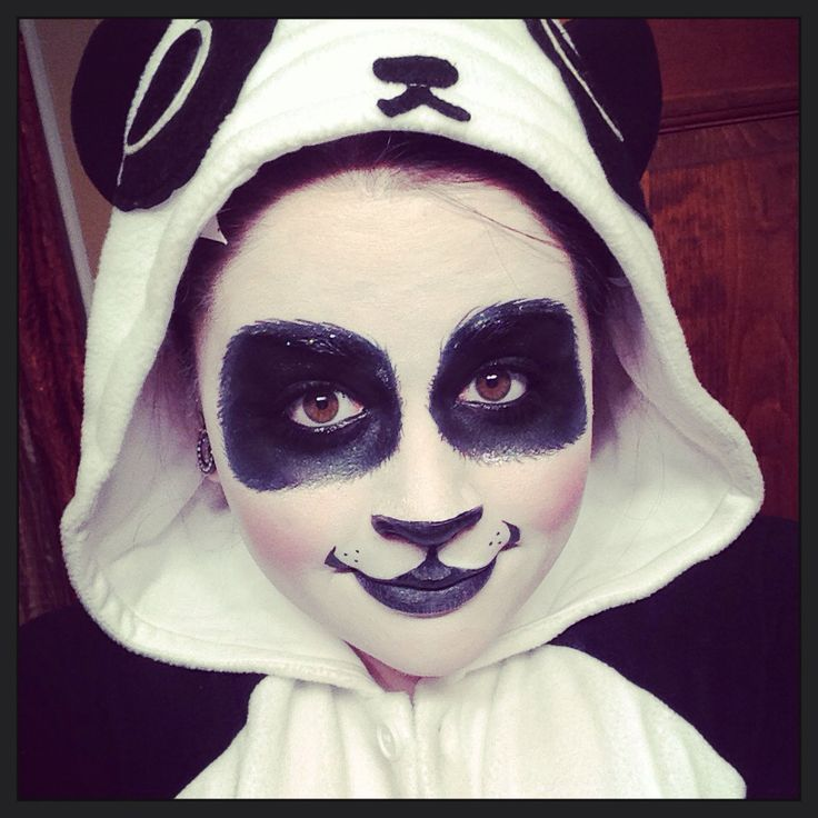 panda costume makeup google search faces pinterest. Black Bedroom Furniture Sets. Home Design Ideas