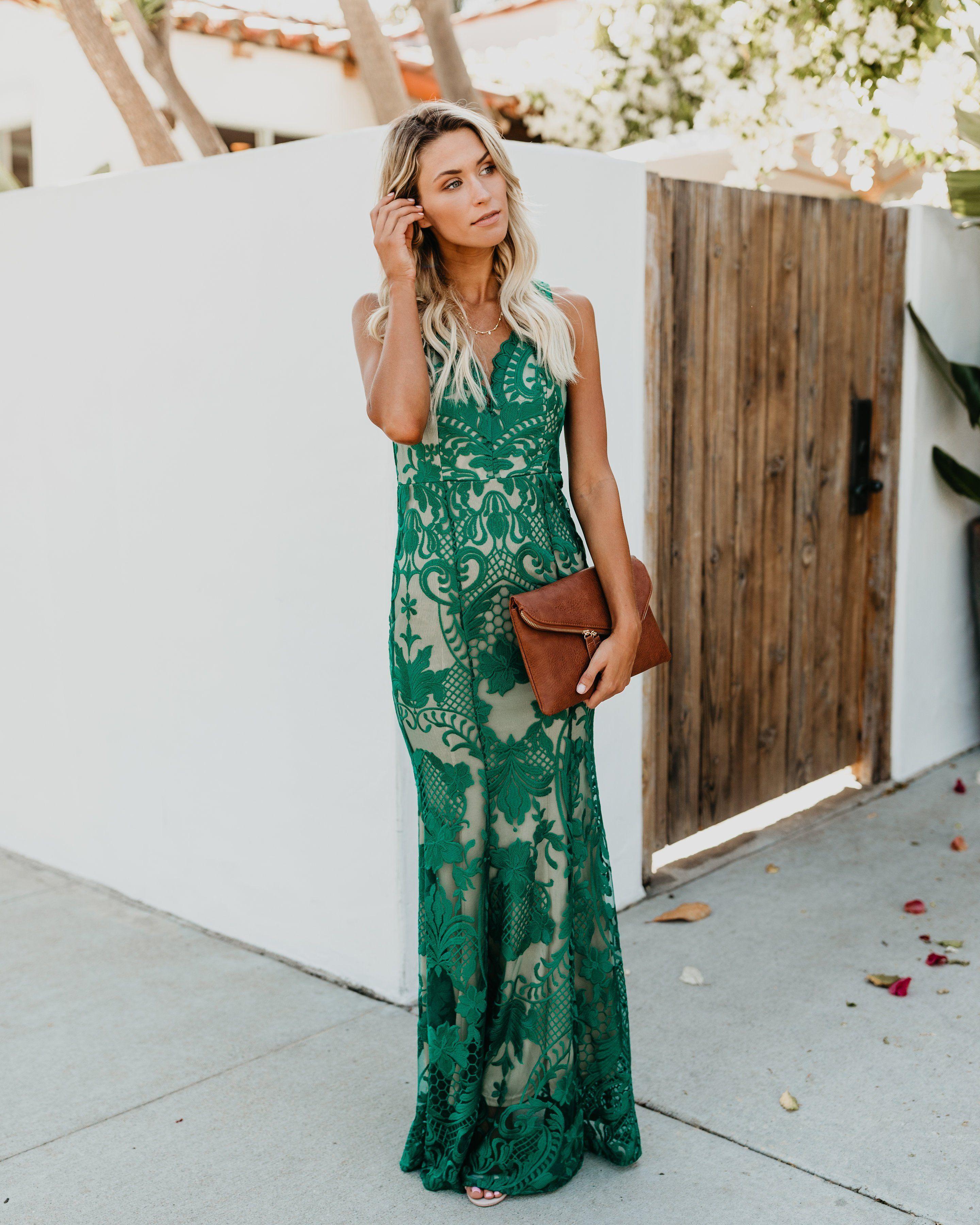 8a71d64f4642 Beauty Never Fades Lace Maxi Dress - Green