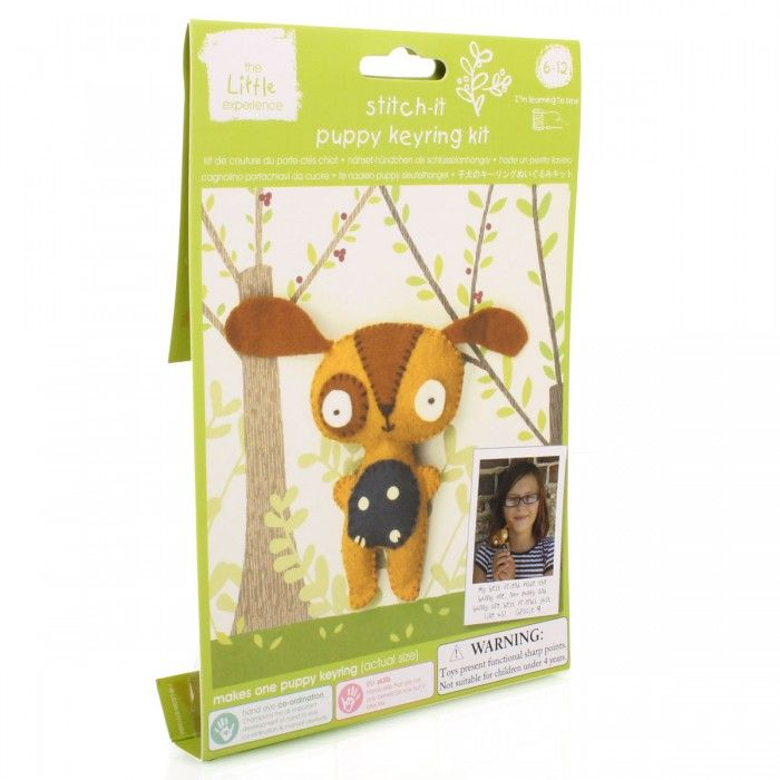 The Little Experience Stitch-it puppy keyring kit $10