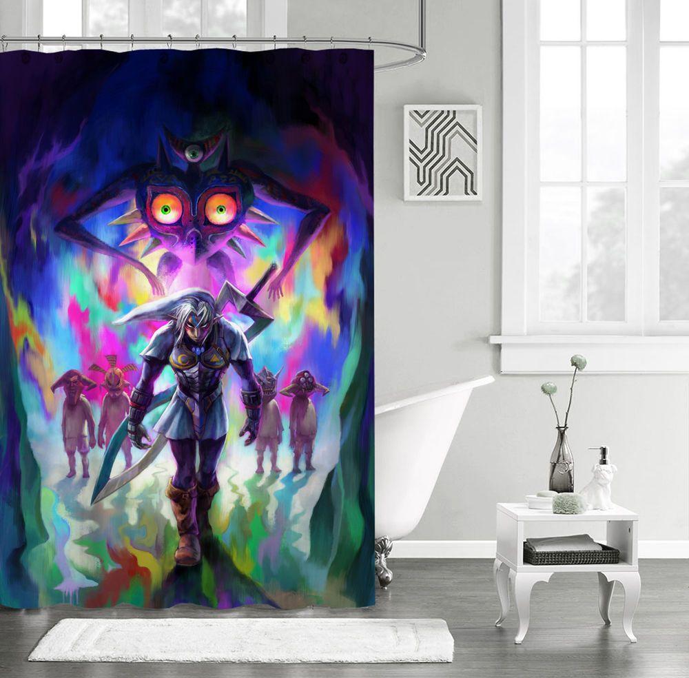 New Design The Legend Of Zelda Majora Mask Custom Shower Curtain 66 X 72