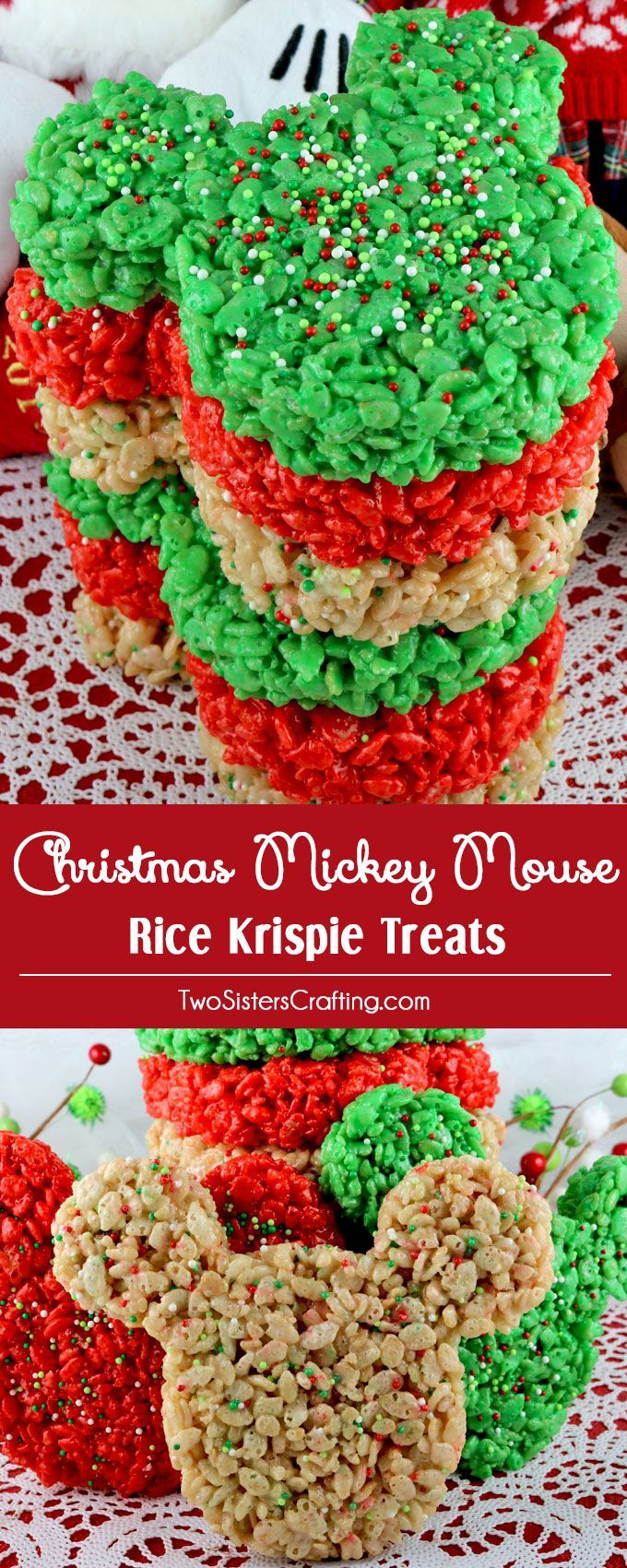 christmas mickey mouse rice krispie treats