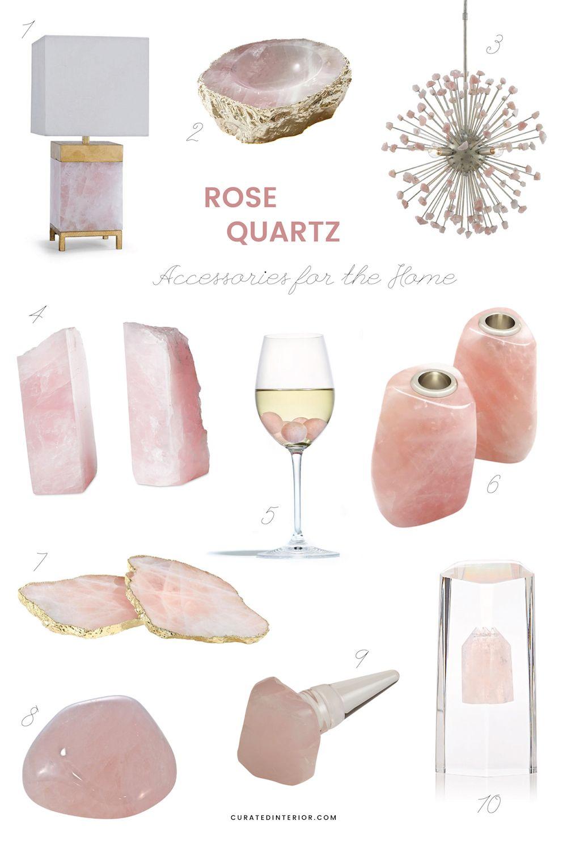 10 Rose Quartz Decor Accessories For Your Home Rose Quartz Accessories Elegant Home Decor Rose Quartz