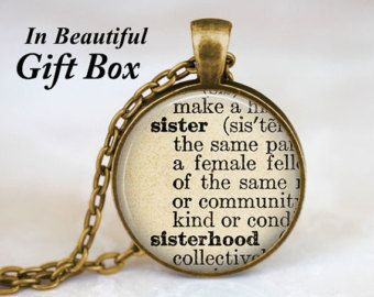 Sister necklace sister gift sister jewelry sister definition sister necklace sister gift sister jewelry by thependantartdesign negle Images