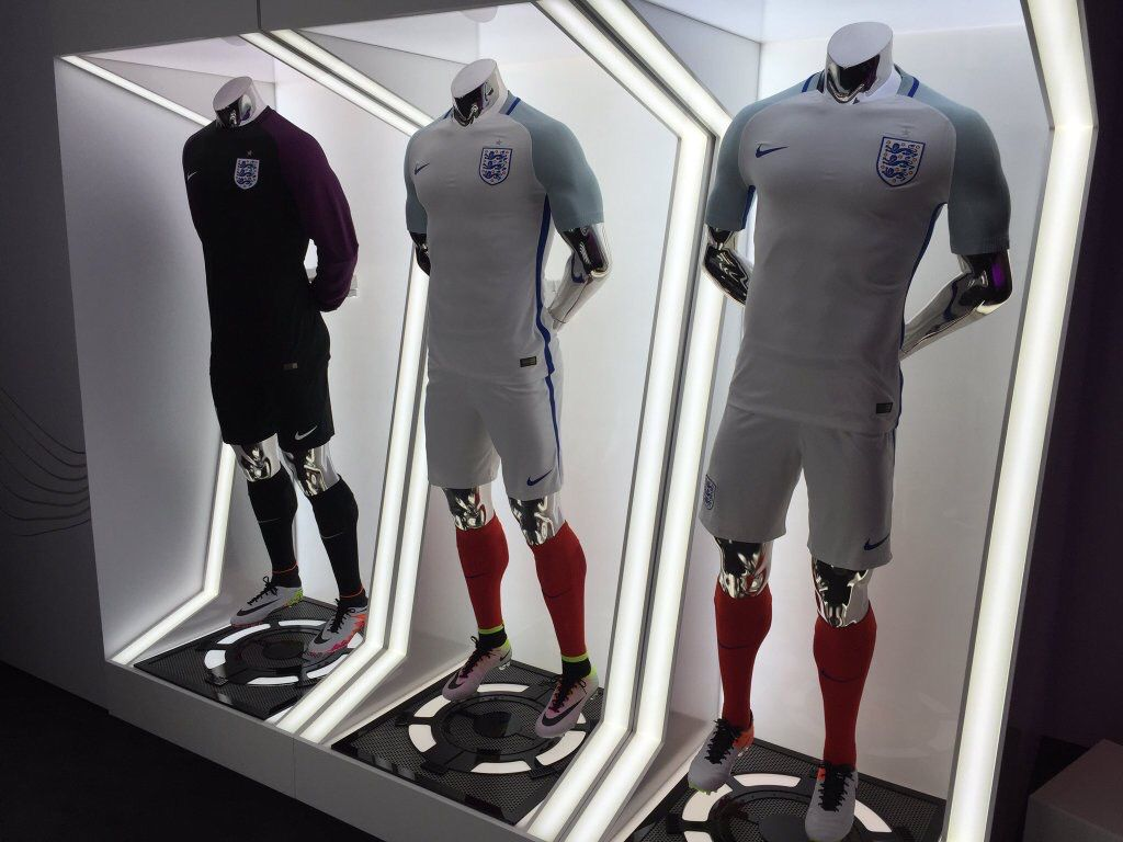 England 2016 Home and First GK kit by Nike