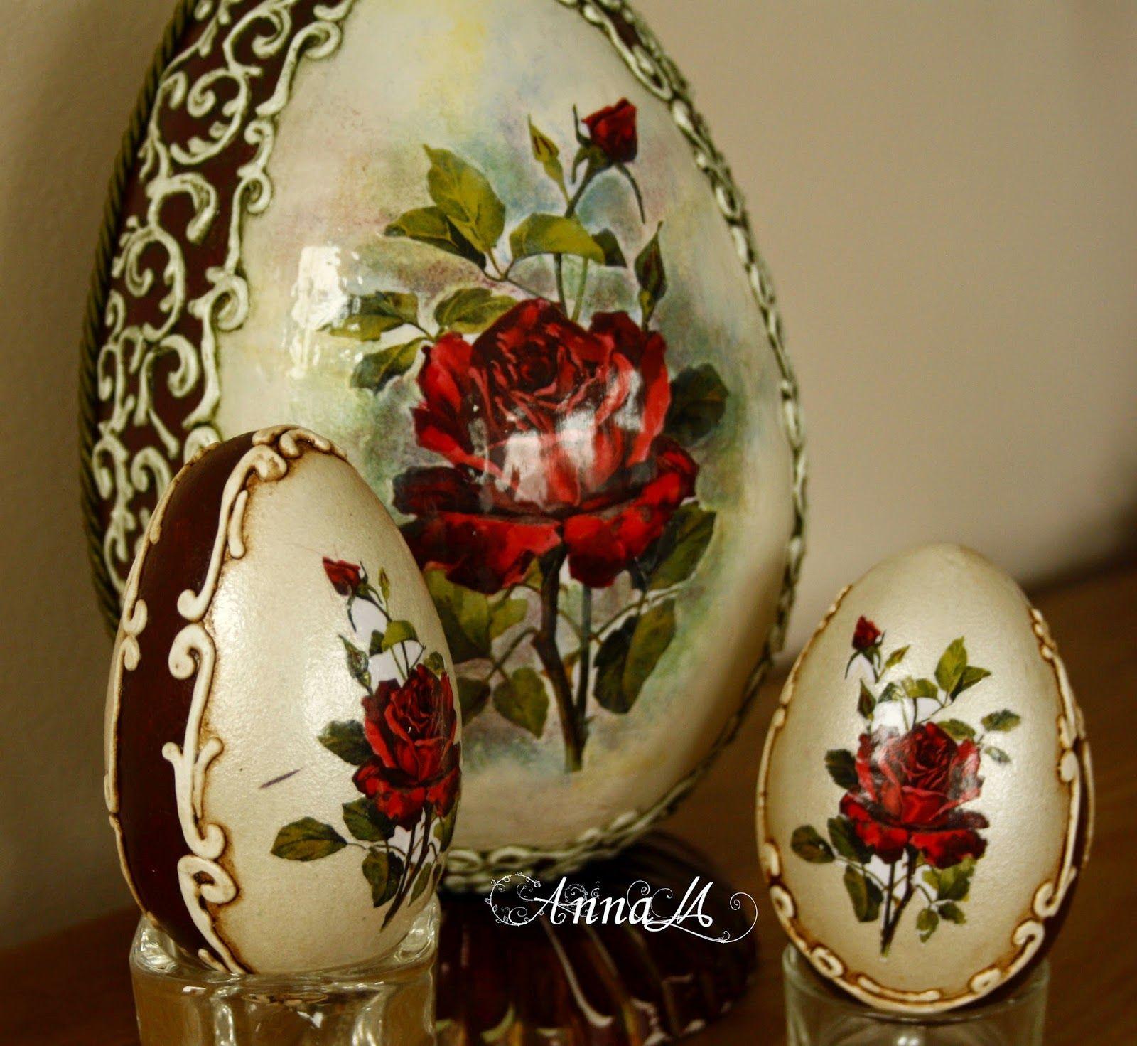 "Studio Artistic Handicraft ""Anna M"" Wieslawa Monday: goose eggs"